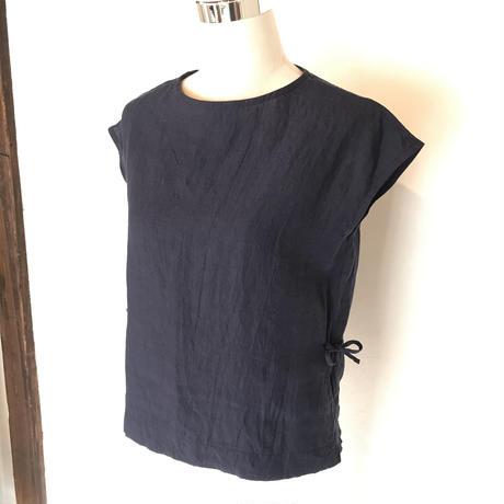 フレンチスリーブシャツ ネイビー L