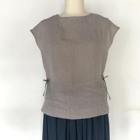フレンチスリーブシャツ シルバーグレー L