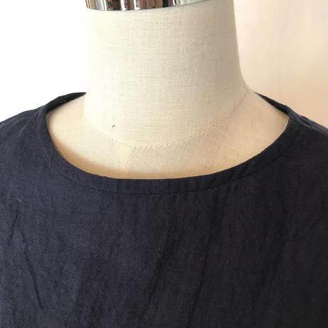 フレンチスリーブシャツ ネイビー M