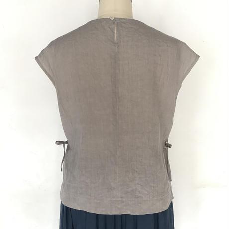 フレンチスリーブシャツ シルバーグレー M