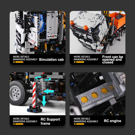 ラジコン レゴ 互換品 空気圧ショベルトラック 2819ピース モーターセット RC 重機 建機 シャベル テクニック プレゼント クリスマス MOC 車両 工事 重機 おもちゃ ブロック 互換