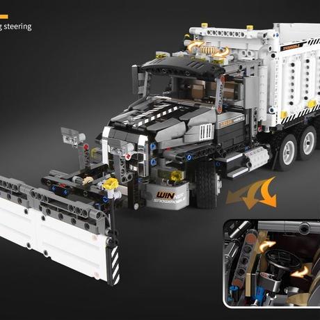 レゴ 互換品 除雪トラクター 除雪車 スノープラウ トラック テクニック プレゼント クリスマス 車両 工事 重機 おもちゃ ブロック 互換 知育玩具 入学 お祝い こどもの日