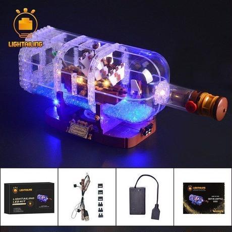 レゴ 21313 ボトルシップ  ライトアップセット [LEDライトキット+バッテリーボックス]