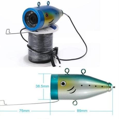 水中カメラ 釣りカメラ 赤外線+白色 LED 30灯 アルミ製カメラ 10インチモニター 50mケーブル GAMWATER