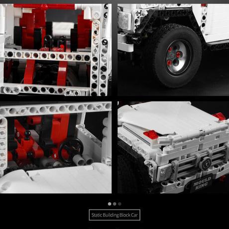 レゴ テクニック 互換品 メルセデスベンツ Gクラス風 ホワイト G65 ジープ オフロード車 プレゼント クリスマス  車 おもちゃ ブロック 互換品 知育玩具 入学 お祝い こどもの日