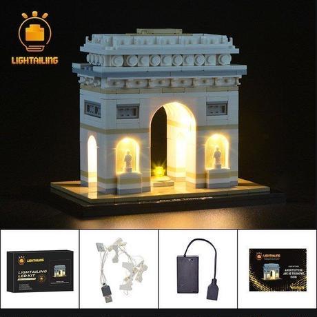 レゴ アーキテクチャー 21036  凱旋門 ライトアップセット [LED ライト キット+バッテリーボックス]