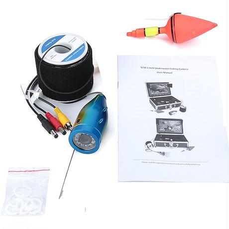 水中カメラ 釣りカメラ アルミ製 白色 LED 12灯 20mケーブル GAMWATER