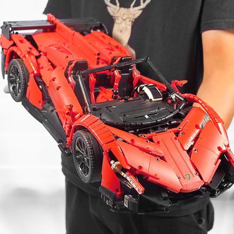まるでラジコンレゴ レゴテクニック 互換 ランボルギーニ・ヴェネーノ モーター&ライトキットセット レッド