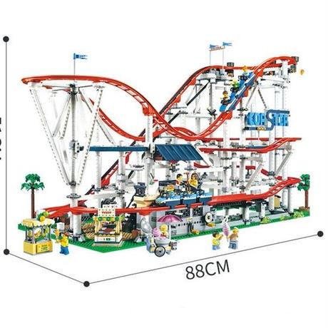 レゴ 互換品 オート ローラーコースター モーター無 ジェットコースター クリエイター 10261 建物 遊園地 テーマパーク プレゼント クリスマス おもちゃ