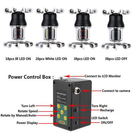 360度回転 CCD 管内検査 排水管 下水道検査 カメラ 10インチ 50mケーブル パイプ検査 工業用 下水管内 赤外線 内視鏡 スネーク