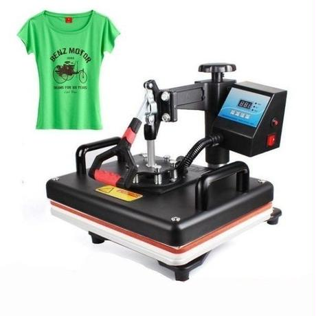 Tシャツ熱転写プレス機  デジタルスイング 熱転写 Tシャツ 印刷 DIY Tシャツプリンター 12 × 15インチ(29×38cm)