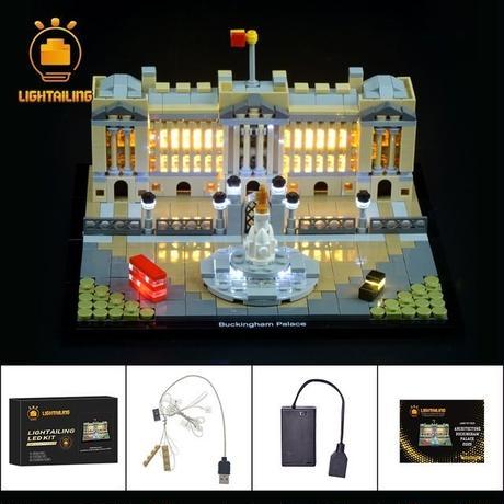 レゴ アーキテクチャー 21029 バッキンガム宮殿 ライトアップセット [LED ライト キット+バッテリーボックス]