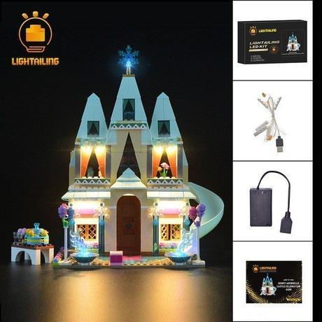 レゴ 41068 ディズニープリンセス アナと雪の女王 アレンデール城 ライトアップセット [LED ライト キット+バッテリーボックス]