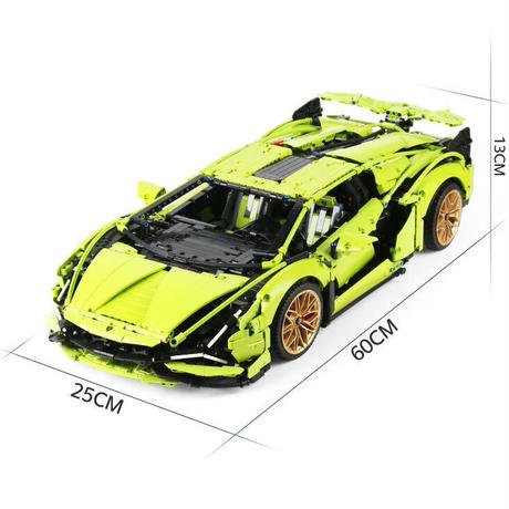 レゴ テクニック 互換品 ランボルギーニ シアン FKP37 デザイン スーパーカー スポーツカー レースカー 42115 プレゼント クリスマス レースカー 車 おもちゃ ブロック