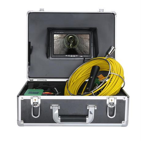 管内検査 排水管 下水道検査 カメラ キット グラスファイバーケーブル40m パイプ検査 工業用 下水管内内視鏡 スネーク 7inchΦ17