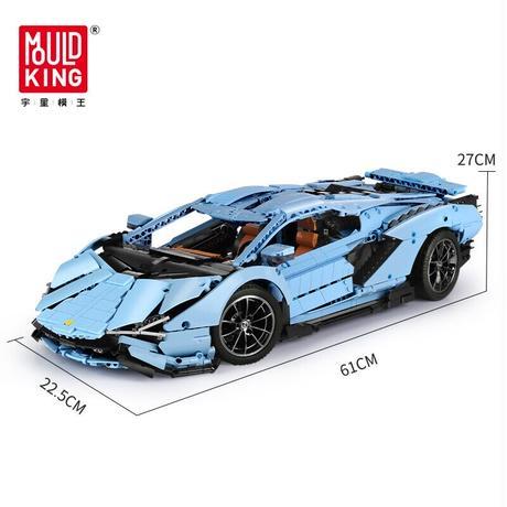 レゴ テクニック 互換品 ランボルギーニ シアン FKP37 デザイン ブルー スーパーカー スポーツカー レースカー 42115 プレゼント クリスマス レースカー 車 おもちゃ ブロック