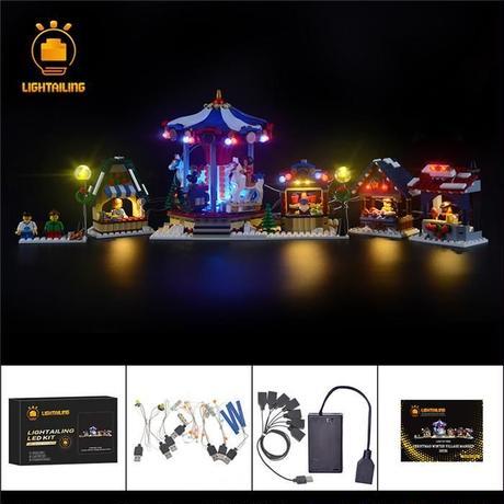 レゴ 10235 ウインタービレッジマーケット ライトアップセット [LEDライトキット+バッテリーボックス]