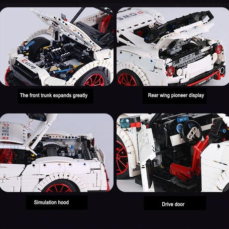 レゴ 互換品 GTR GT3タイプ スピードレーシングカー スーパーカー テクニック プレゼント クリスマス スーパーカー レースカー 車 おもちゃ ブロック 互換品