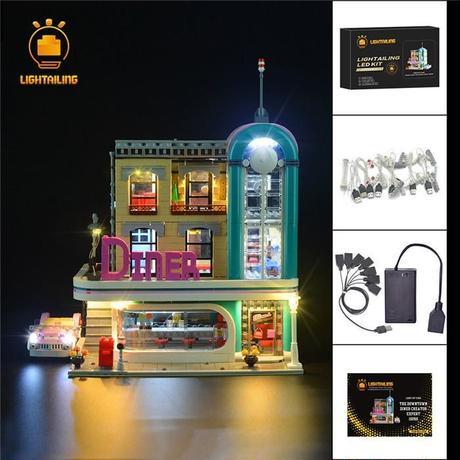 レゴ 10260 ダウンタウンダイナー ライトアップセット [LED ライト キット+バッテリーボックス]