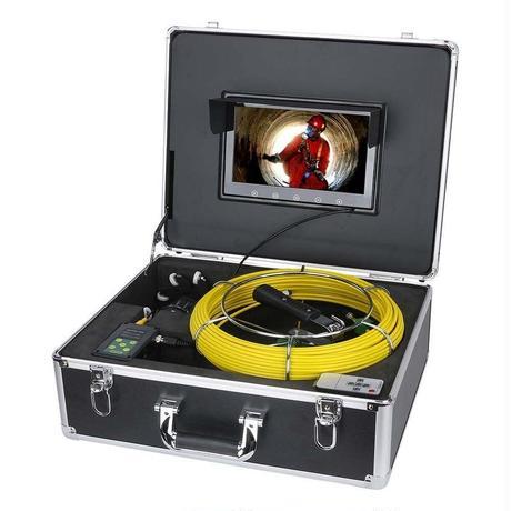 360度回転 CCD 管内検査 排水管 下水道検査 カメラ wifi 9インチ 50mケーブル パイプ検査 工業用 下水管内 赤外線 内視鏡 スネーク