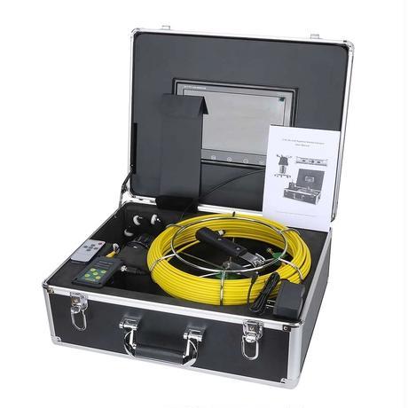 360度回転 CCD 管内検査 排水管 下水道検査 カメラ wifi 10インチ 50mケーブル パイプ検査 工業用 下水管内 赤外線 内視鏡 スネーク