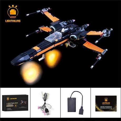 レゴ 75102 ポーのXウィング・ファイター ライトアップセット [LED ライト キット+バッテリーボックス]