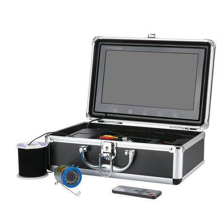 水中カメラ 釣りカメラ アルミ製 白色 LED 12灯 10インチモニター 50mケーブル キット GAMWATER