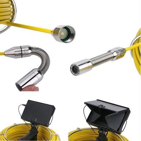 管内検査 排水管 下水道検査カメラ 30mケーブル 手持ち パイプ検査 工業用 下水管内内視鏡 スネーク 4.3inchΦ17