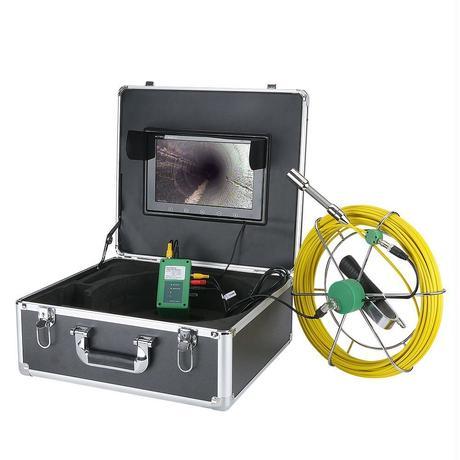 管内検査 排水管 下水道検査 カメラ キット グラスファイバーケーブル30m パイプ検査 工業用 下水管内内視鏡 スネーク 10inchΦ17