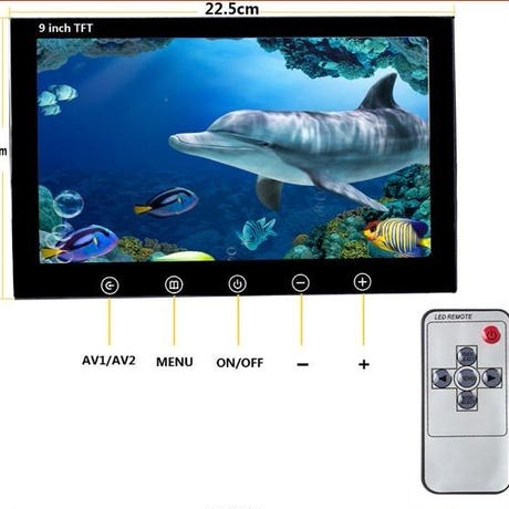 水中カメラ 釣りカメラ アルミ製 赤外線 LED 6灯 9インチモニター 10mケーブル キット GAMWATER