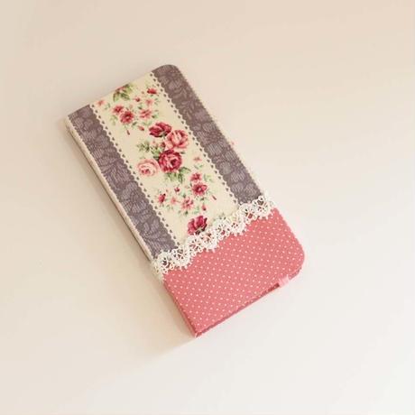 ハンドメイド iphoneケース FL-006×濃ピンクドット