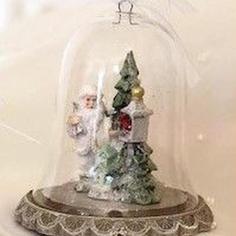 クリスマスミニガラスドーム(ホース/ツリー)