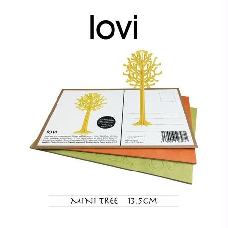 【ポストカード】 lovi(ロヴィ) ミニ ツリー 13.5cm
