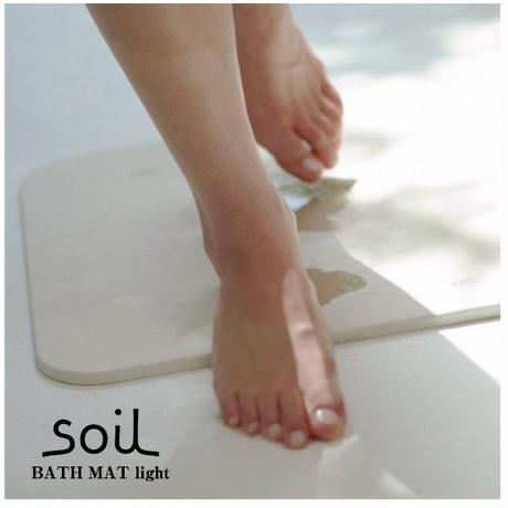 【バスマット】 ソイル 珪藻土 バスマット ライト