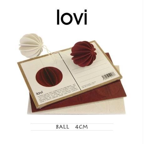 【ポストカード】 lovi(ロヴィ) ボール 4cm