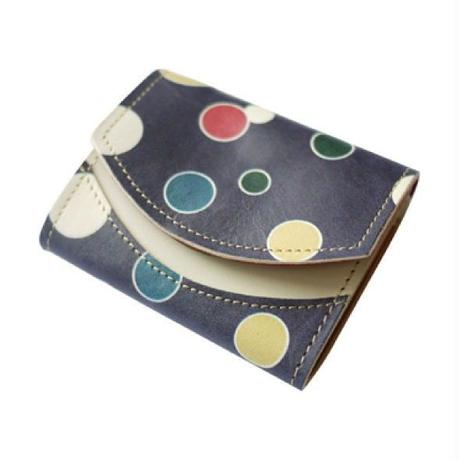 【極小財布】 クアトロガッツ ペケーニョ 紫地羅背板五色乱星