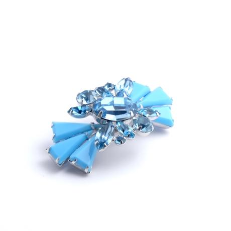 ターコイズブルーカラーのブローチ(BR1154)