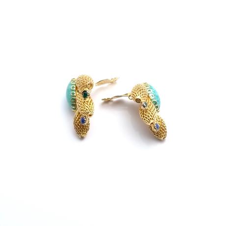 Gold Mesh Earrings(ER0418)