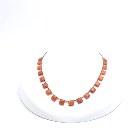 Art Deco Carnelian Necklace(NE0965)