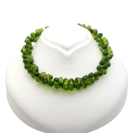 Green Glass  Choker Necklace(NE1302)