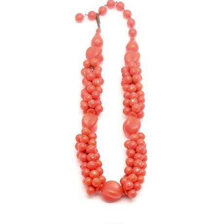 Western Germany Red Glass Beads Choker Necklace(NE1300)