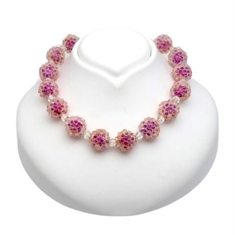Raspberry Choker Necklace(NE1301)