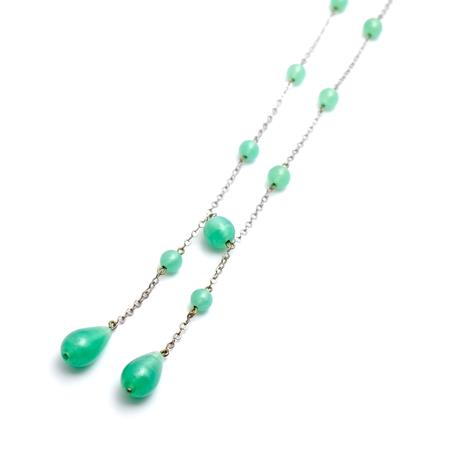 アール・デコ サテングラスのネックレス(NE0980)