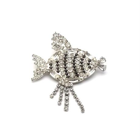 Rhinestone Fish Brooch(BR0475)