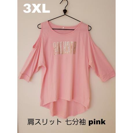 【バチャータTシャツ】レディース肩スリット七分袖