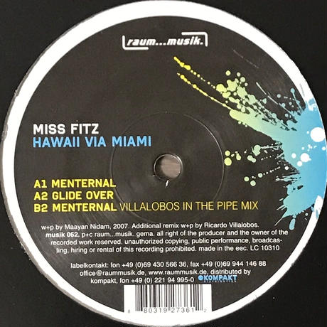 Miss Fitz - Hawaii Via Miami [12][Raum...musik] ⇨Ricardo Villalobos Remix!