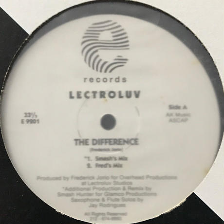 Lectroluv - The Difference [12][Eightball Records] ⇨92年 Deep House 好盤!
