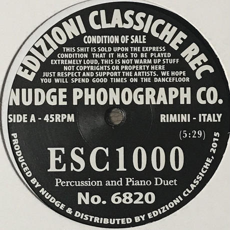 Nudge Phonograph Co. - ESC1000 [12][Edizioni Classiche Rec.]