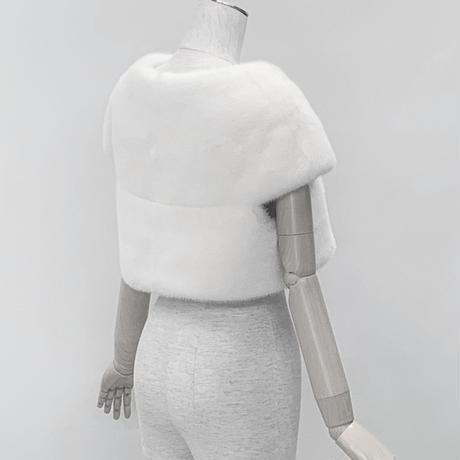NO 341 ホワイト ミンクボレロ