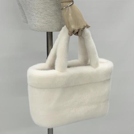ホワイトミンクトートバッグ NVTB-2 F③
